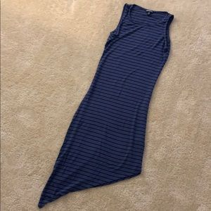 express dress,navy blue😍 w/black stripes😊w/slant